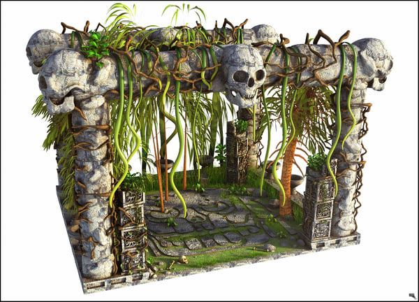 ruin archaeology 3D