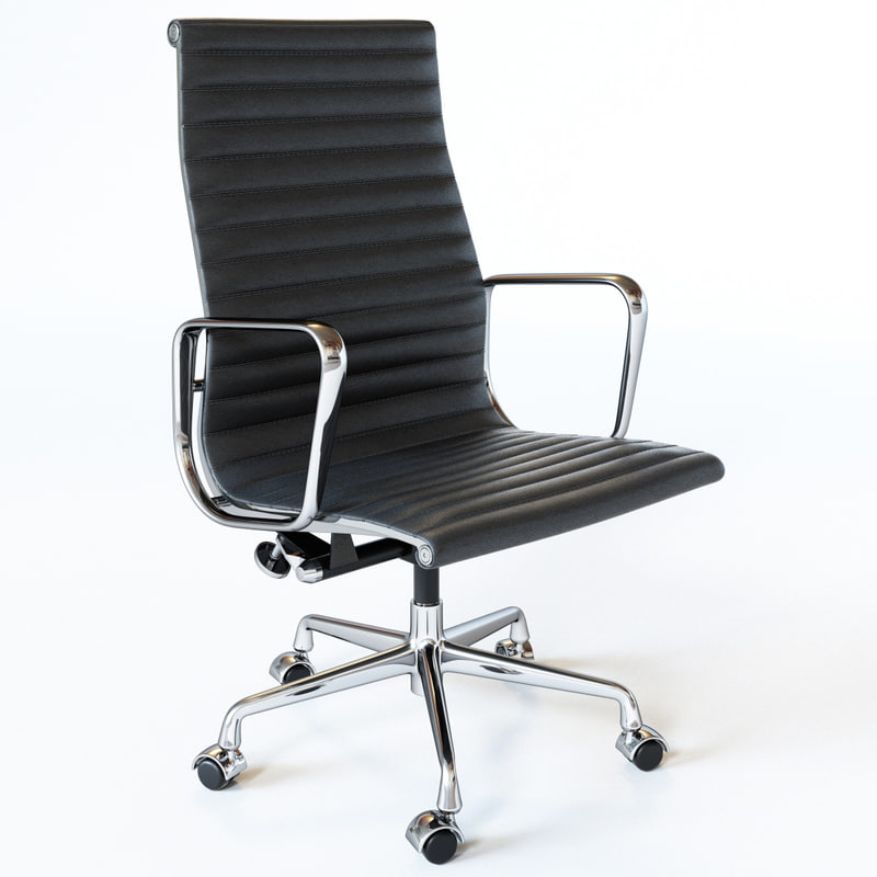 3D Eames Aluminum Group Executive Chair Model