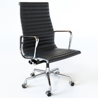 3D eames aluminum group executive chair model