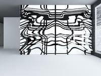 interior scene panel wall model