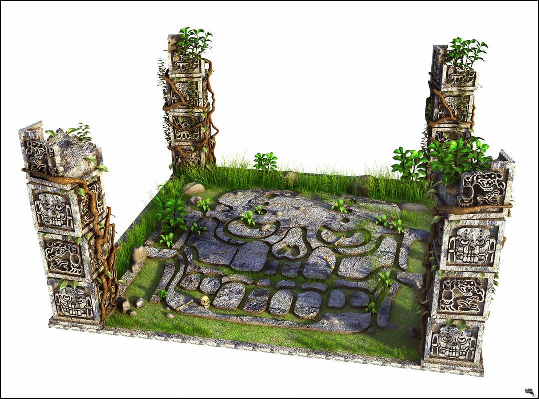 floor aztec 3D model