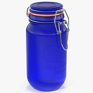 airtight glass jar 3D model