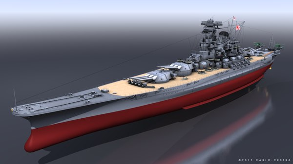 battleship yamato ten-ichigo 3D model