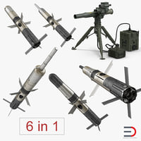 BGM-71 TOW Missile System 3D Models Collection