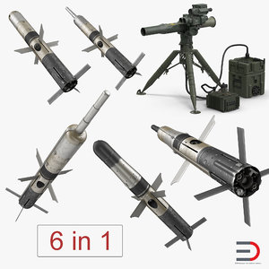 bgm-71 tow missile bgm 3D model