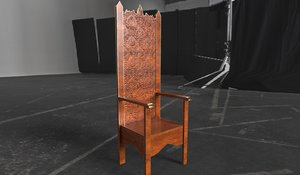 luxury wooden chair optional 3D