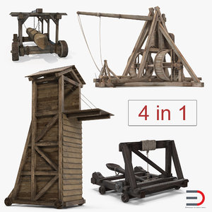 medieval siege weapons 3D model
