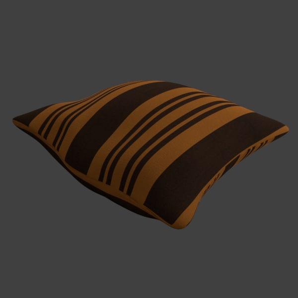 3D sculpted pillow