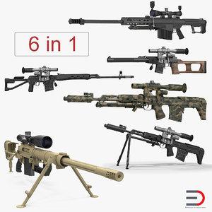 3D sniper rifles 2 model