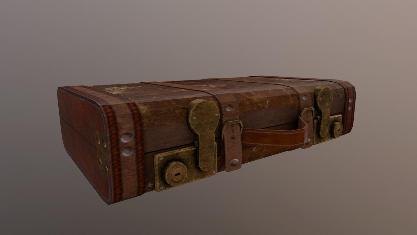 leather suitcase 3D