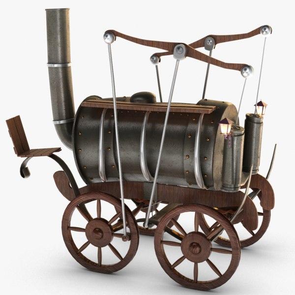 old steam locomotive 3D model