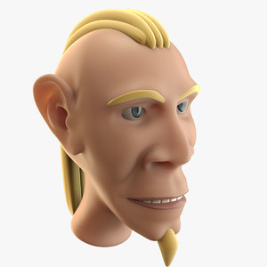 cartoon man head model