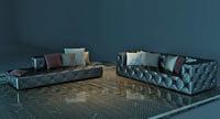Capitone large sofa