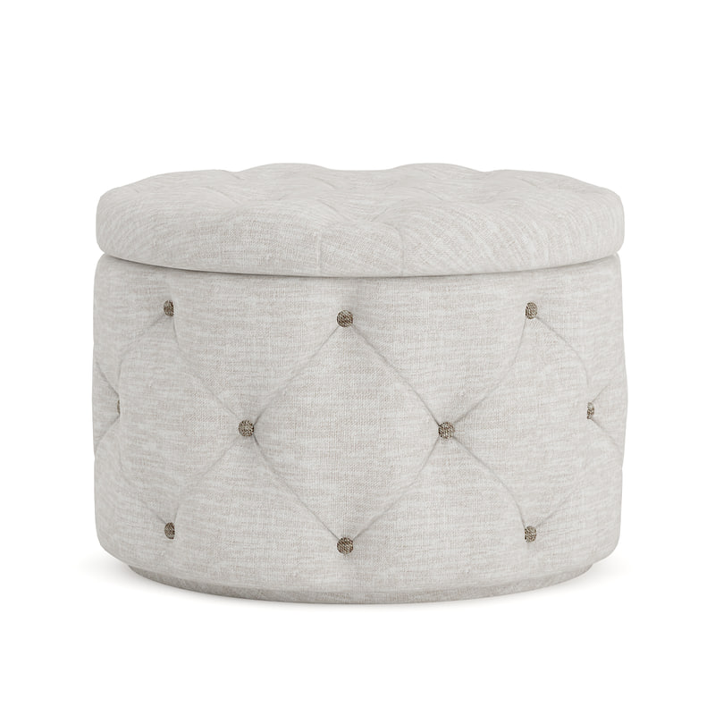 3D grey fabric pouf