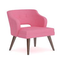 pink fabric armchair model