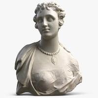3D woman bust
