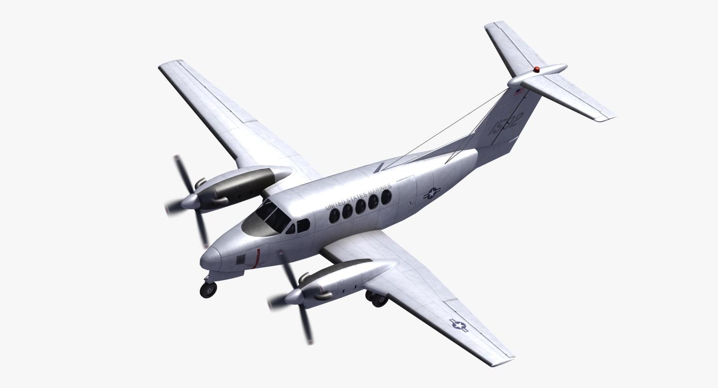 beechcraft c12 huron 3D model