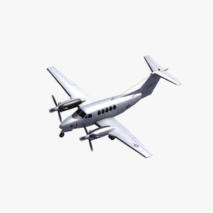 beechcraft c12 huron 3D model