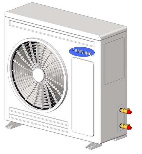 3D revit 6kw c condenser