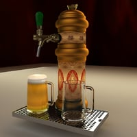 3D model chinese beer tab