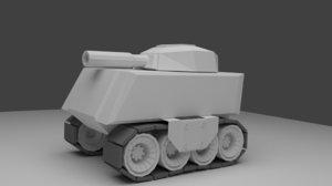 cartoon tank 3D