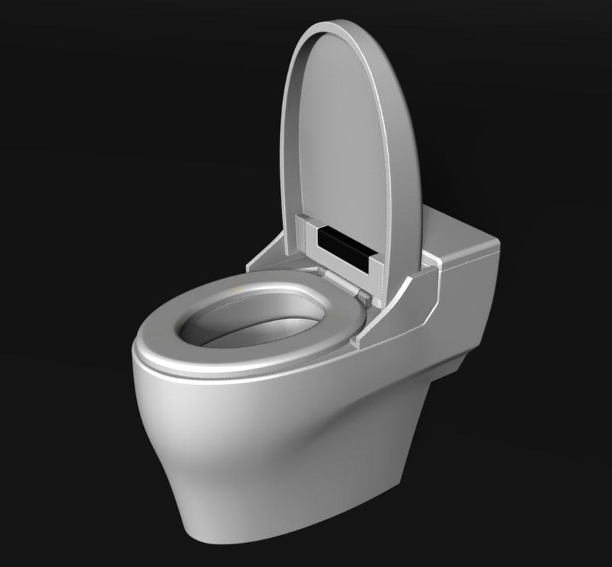 3D toilet bowl model
