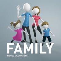 FamilyCharacter Rigged