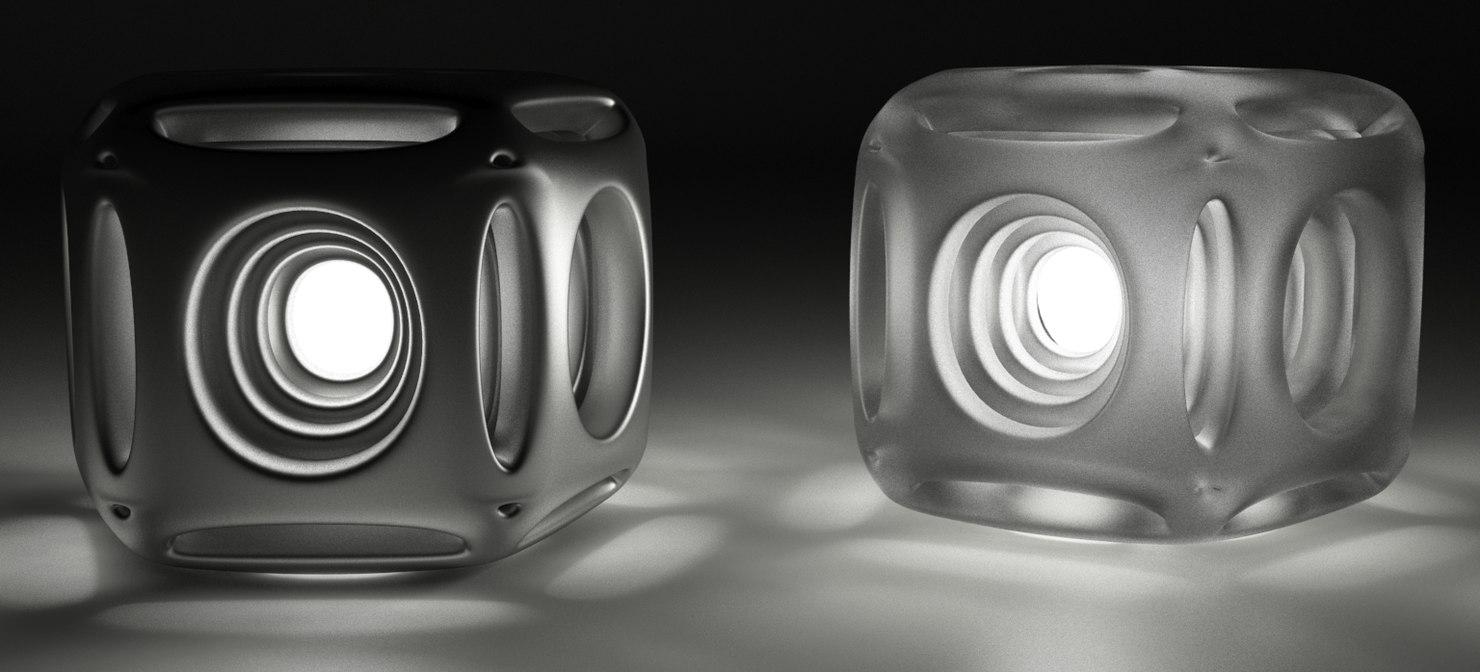 3D nordsk geometric n-gon light model