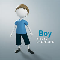 3D model character rigged