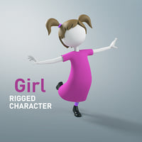 Girl Character Rigged