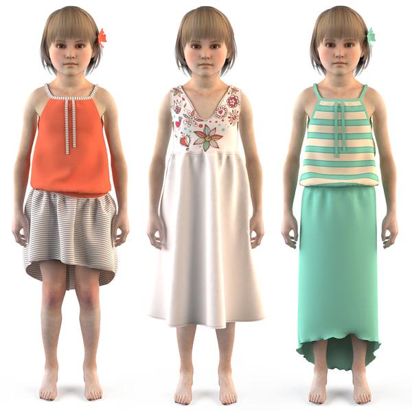 child s room kids 3D model