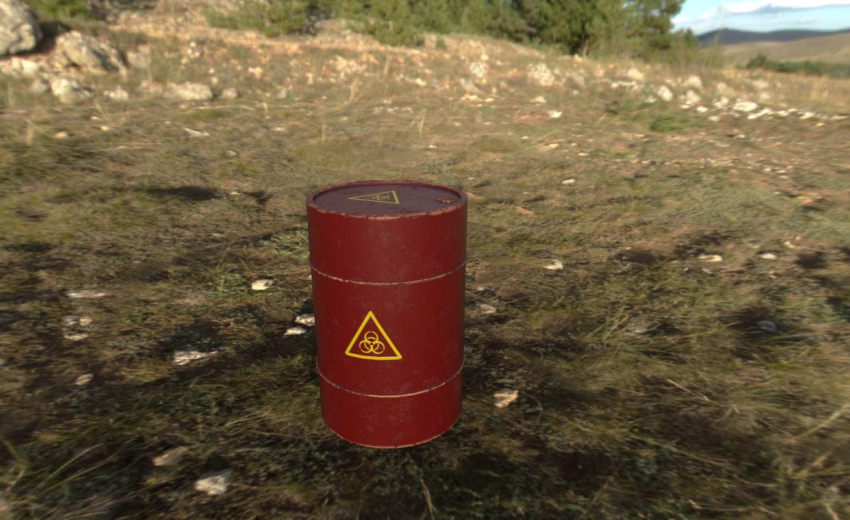 3D model organic barrel
