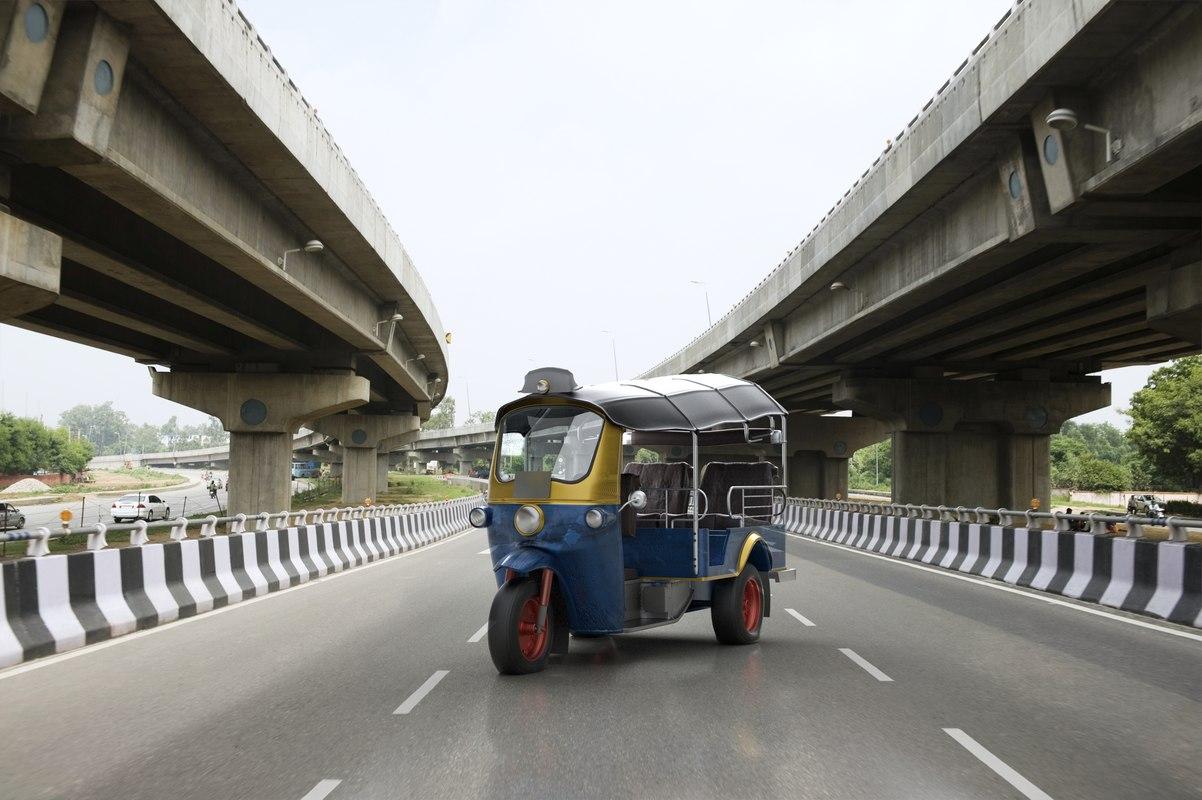 3D tuk-tuk rickshaw