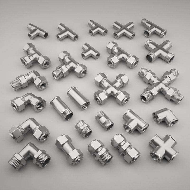 3D pipe fittings