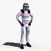 sergio perez 2017 3D model