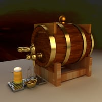 chinese beer barrel 3D