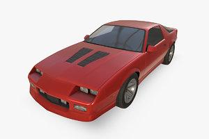 3D chevrolet camaro 1990 model