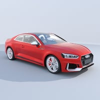 audi rs5 coupe 2018 3D model