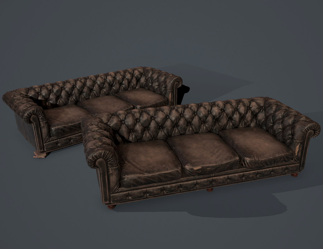 Low Poly Old Sofa 3d Model Turbosquid 1184118