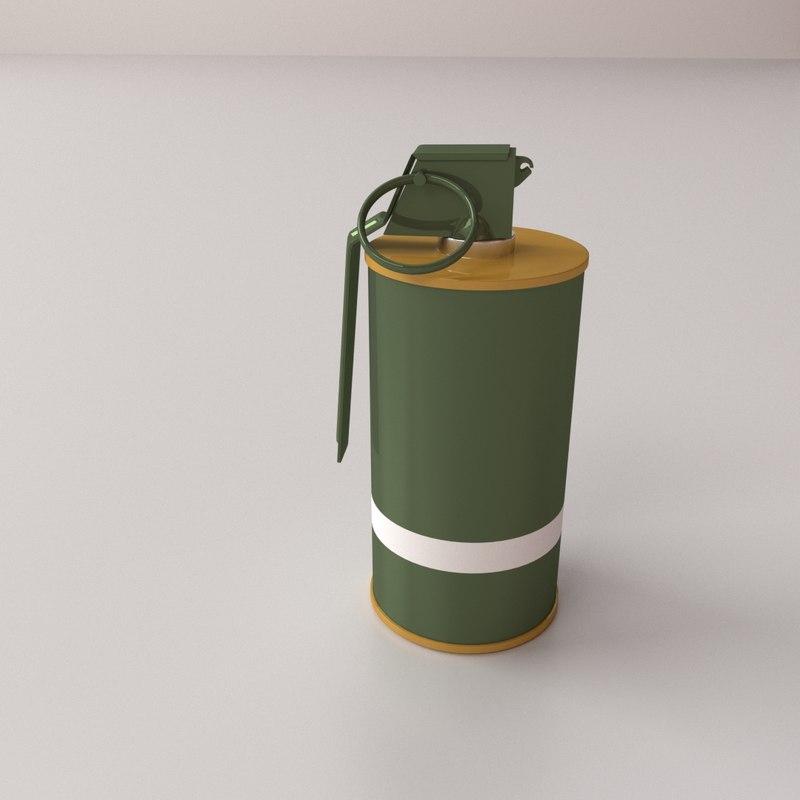 m18 smoke grenade model