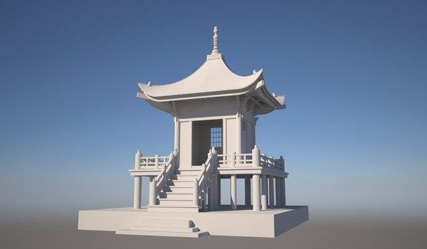 japanese tea house 3D model