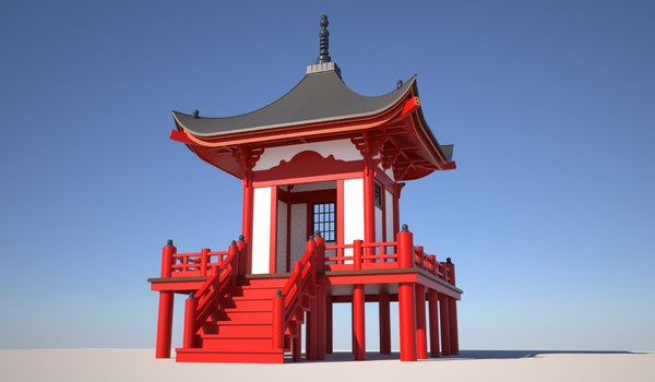 japanese tea house 3D model