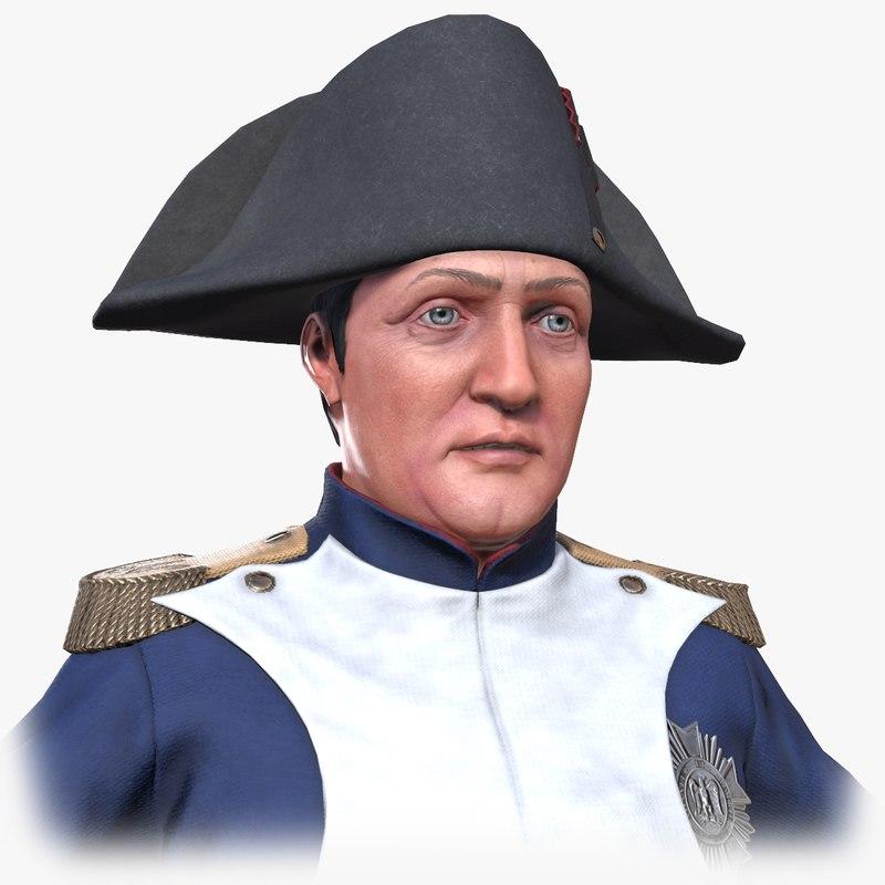 3D model historical napoleon bonaparte
