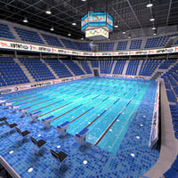 3D swimming olympic sport model