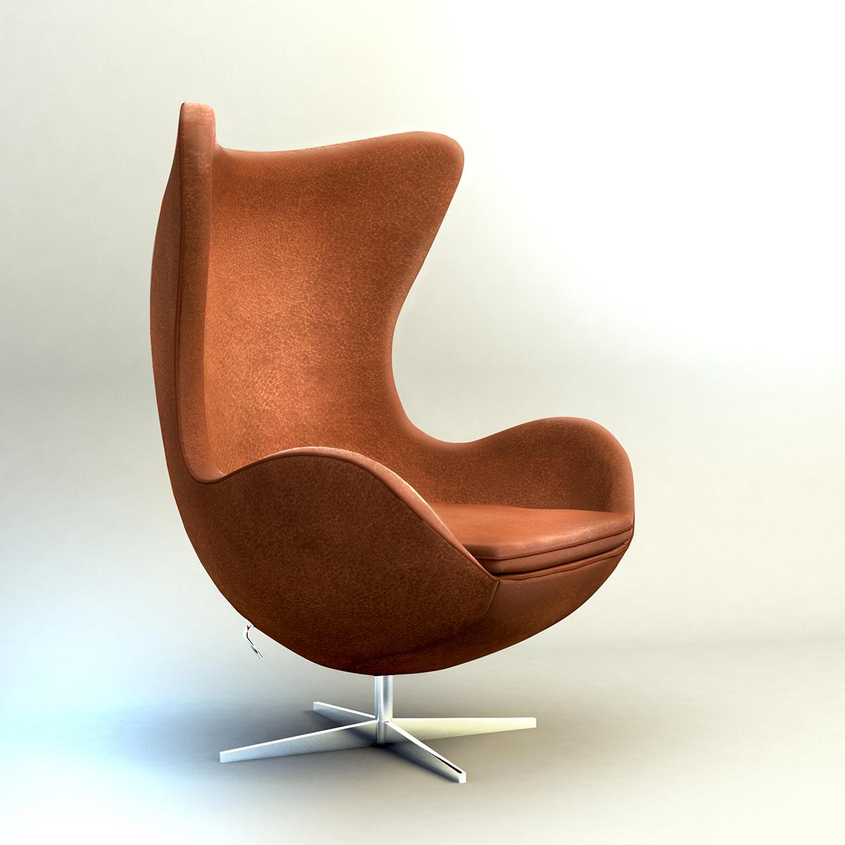 Arne Jacobsen Egg Chair.3d Egg Chair Arne Jacobsen Turbosquid 1184148