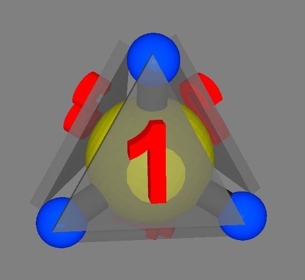 3D methane tetrahedral