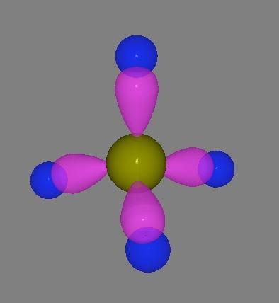 methane sp3 orbitals 3D model