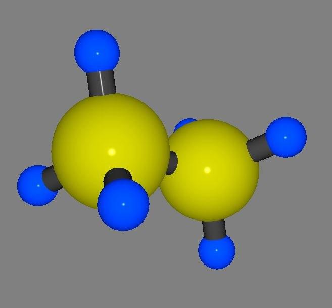 ethane molecule model