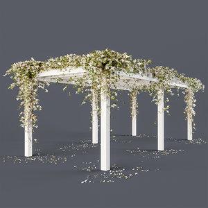 3D flowers pergola