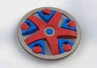 3D model spinner fidget spin